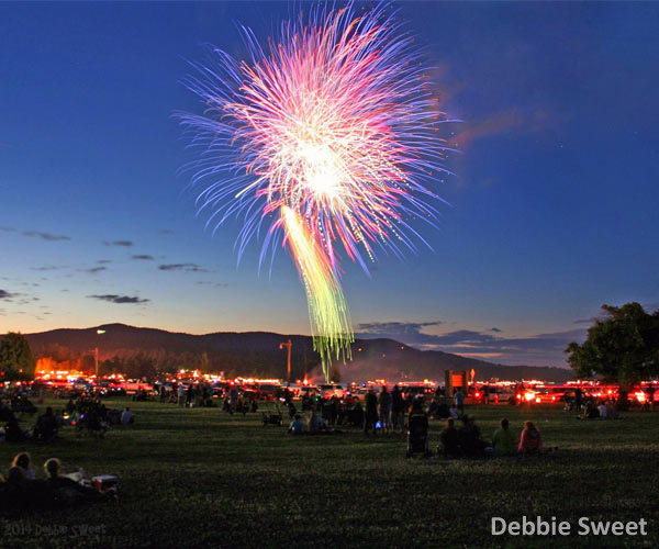 Fireworks in Lake George