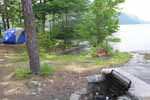 Vicars Island Campsite #3 on Lake George - for great lake george camping on the islands