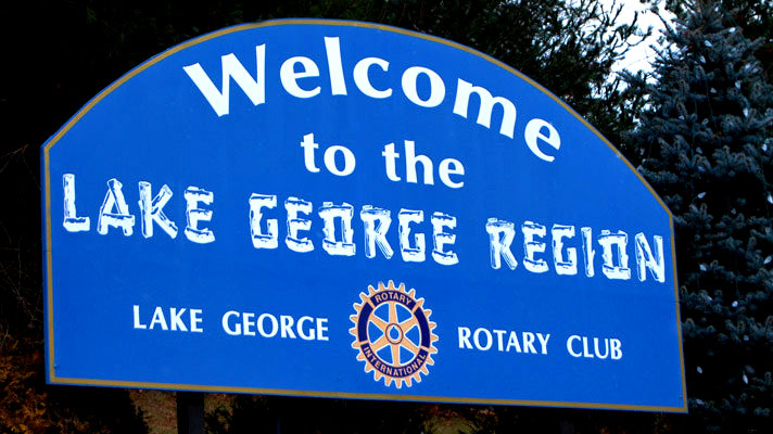 Lake George Region Welcome Sign