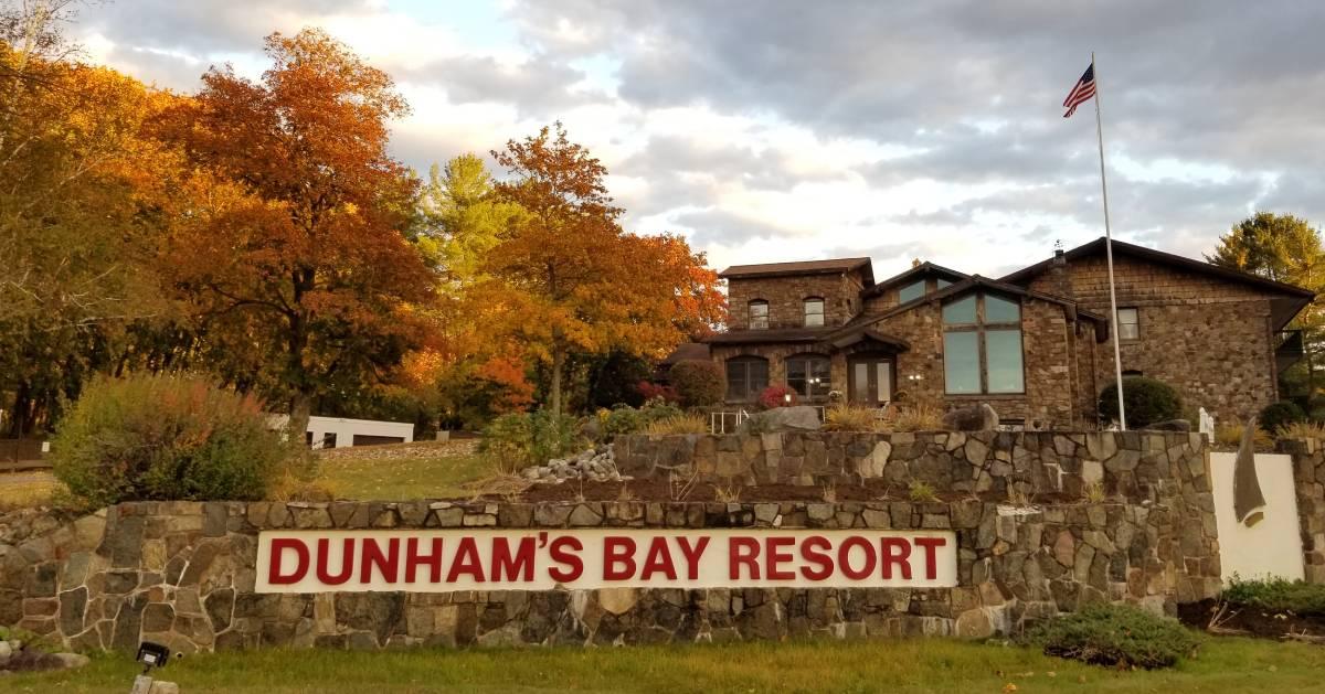 Dunham's Bay Resort in the fall