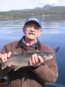 Dan with a nice little laker on Lake George.jpg