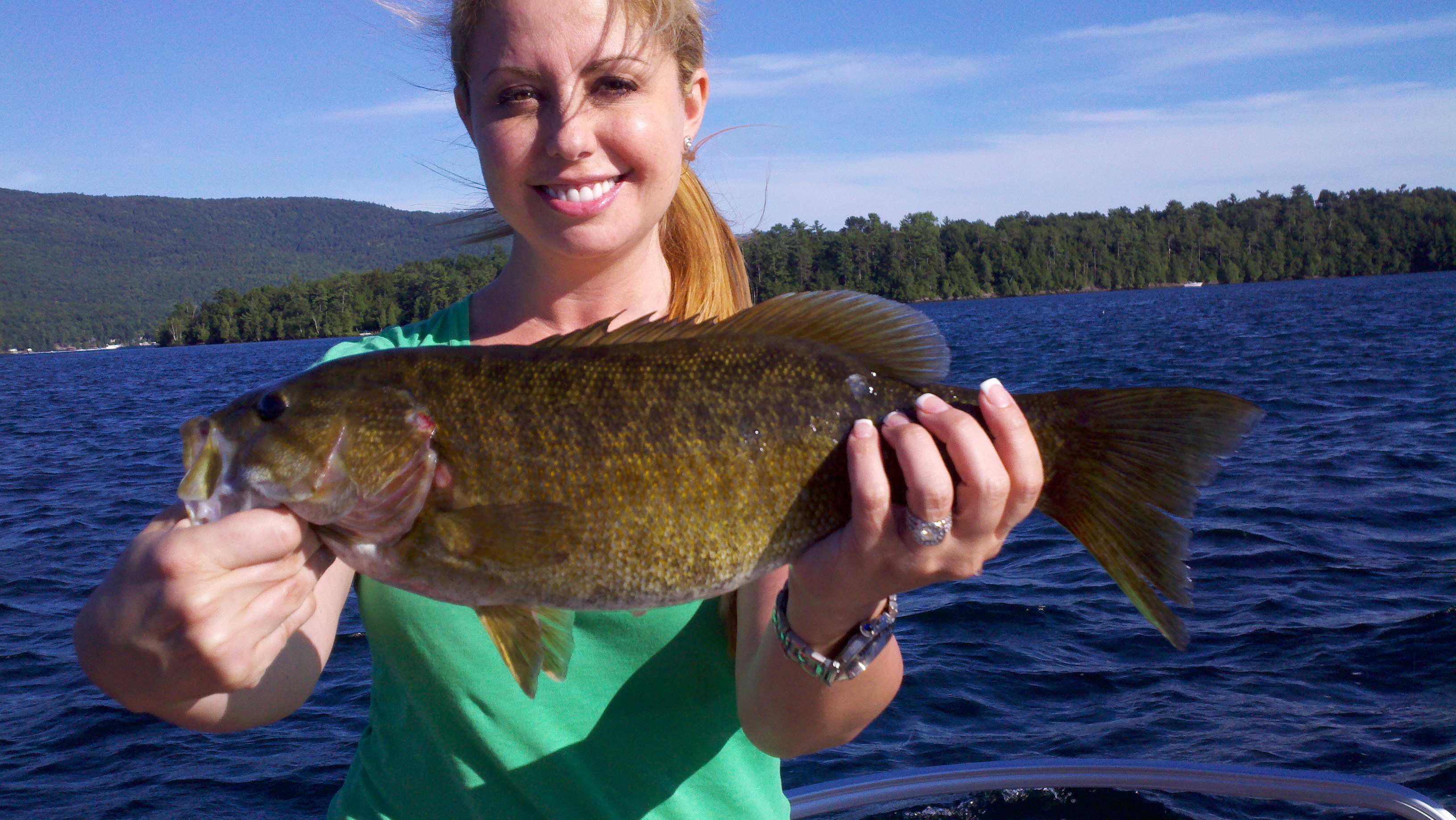 Bass fishing is great spring sport on lake george lake for Lake george fishing charters