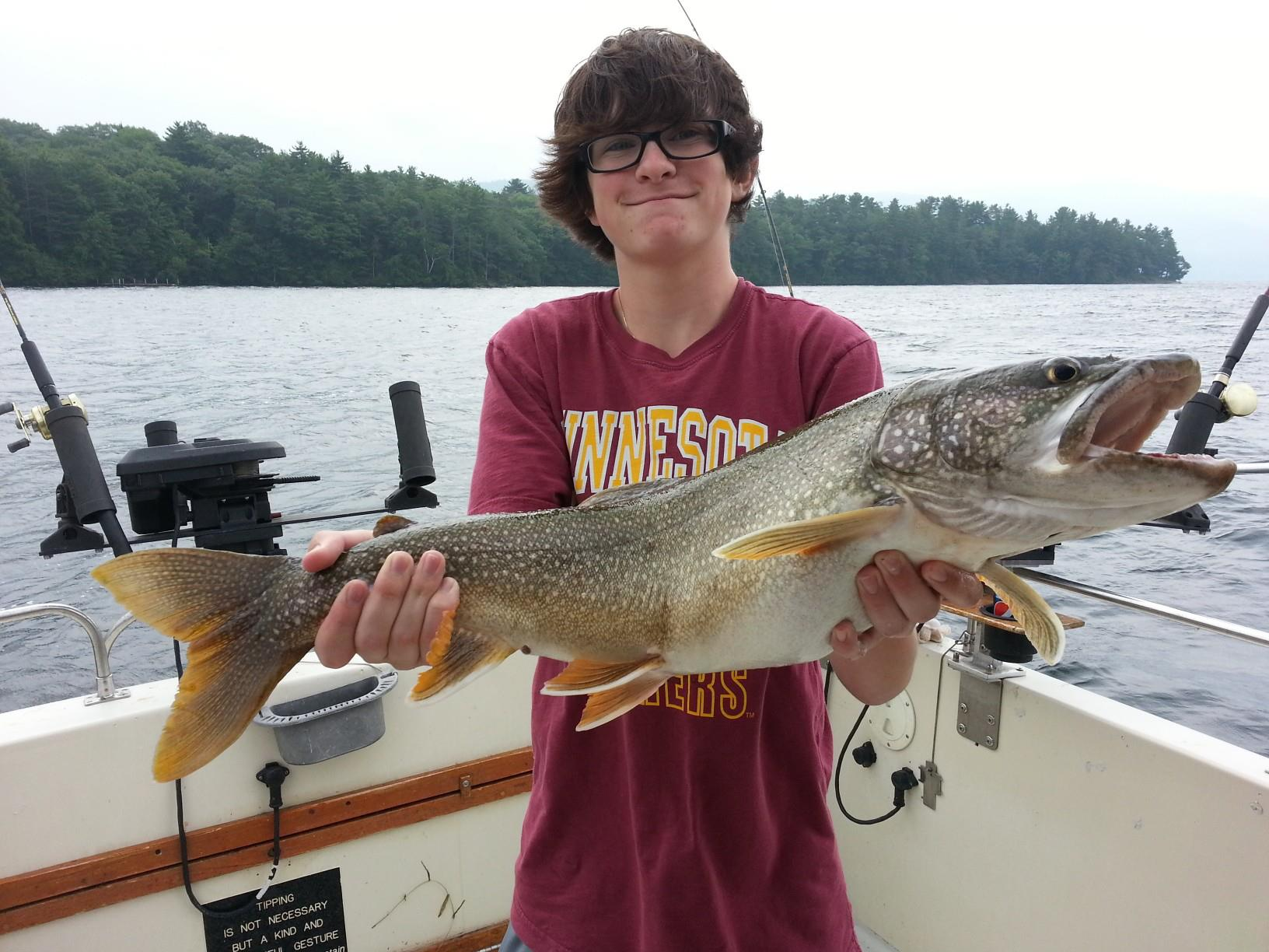 Nick reels 39 em in on lake george new york lake george for Fishing report ny