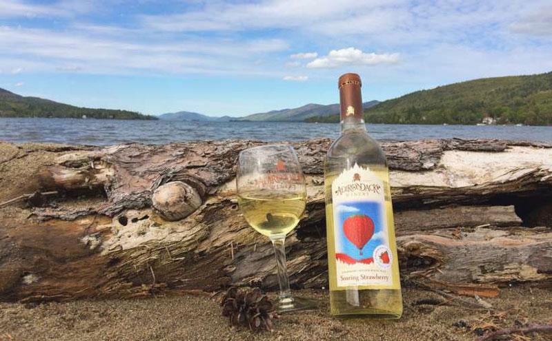 adirondack winery white wine on the shores of lake george