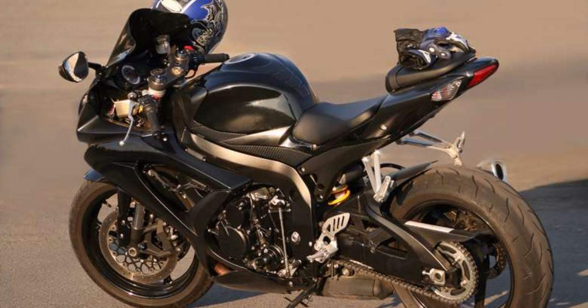 a black motorcycle