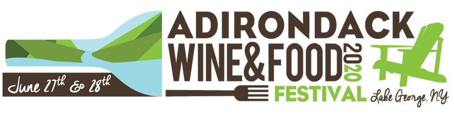 adirondack wine and food festival 2020 logo