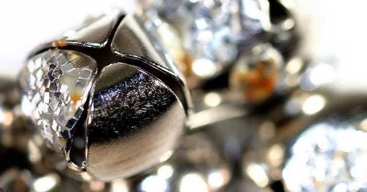a silver jingle bell