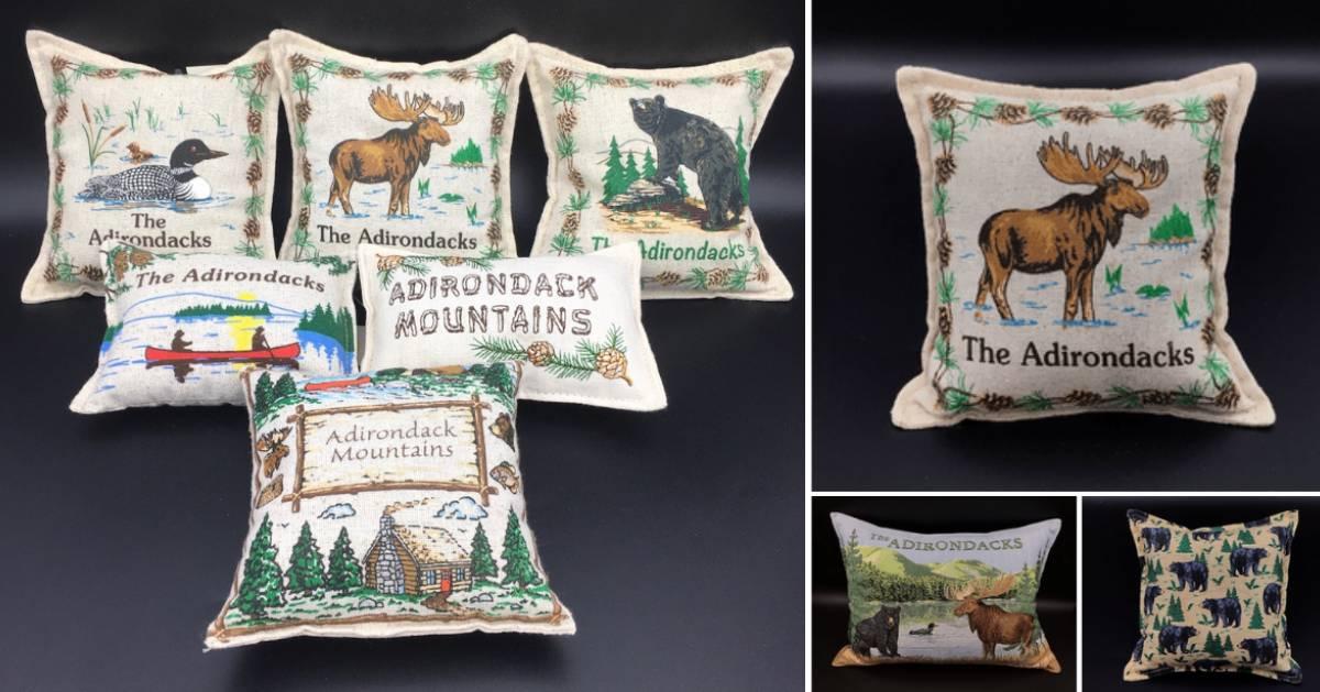 collage of Adirondack pillows