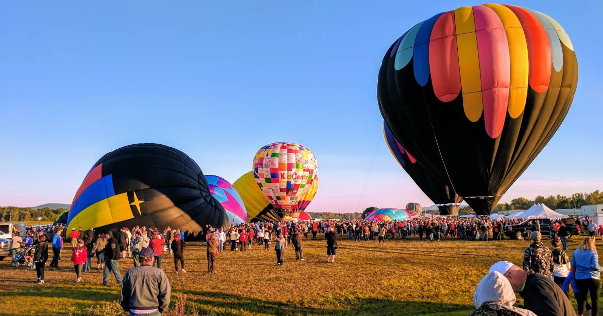 scene at Adirondack Balloon Festival