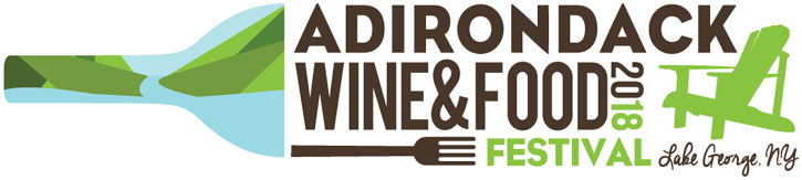 adirondack wine and food festival 2018 logo