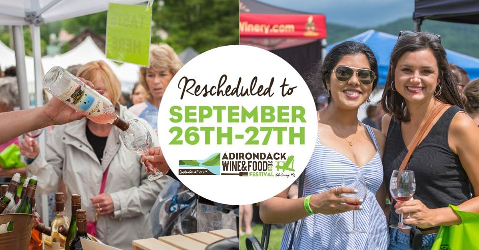 adirondack wine and food festival 2020 logo