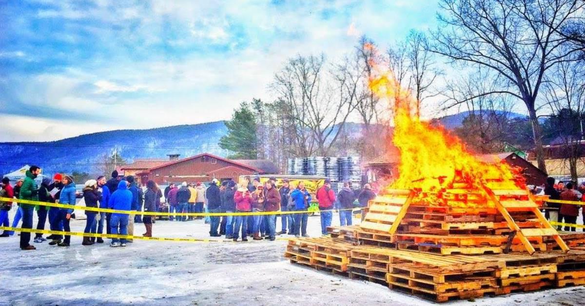 bonfire at Barrel Fest