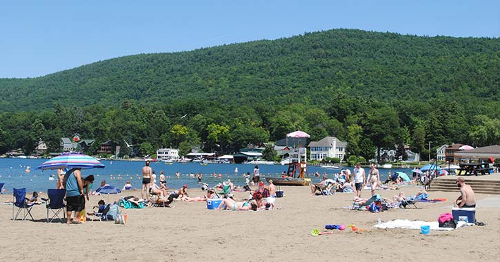 beach on lake george