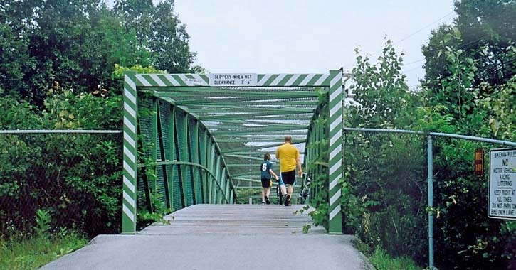 bike trail and bridge