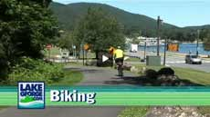 Biking in Lake George Video