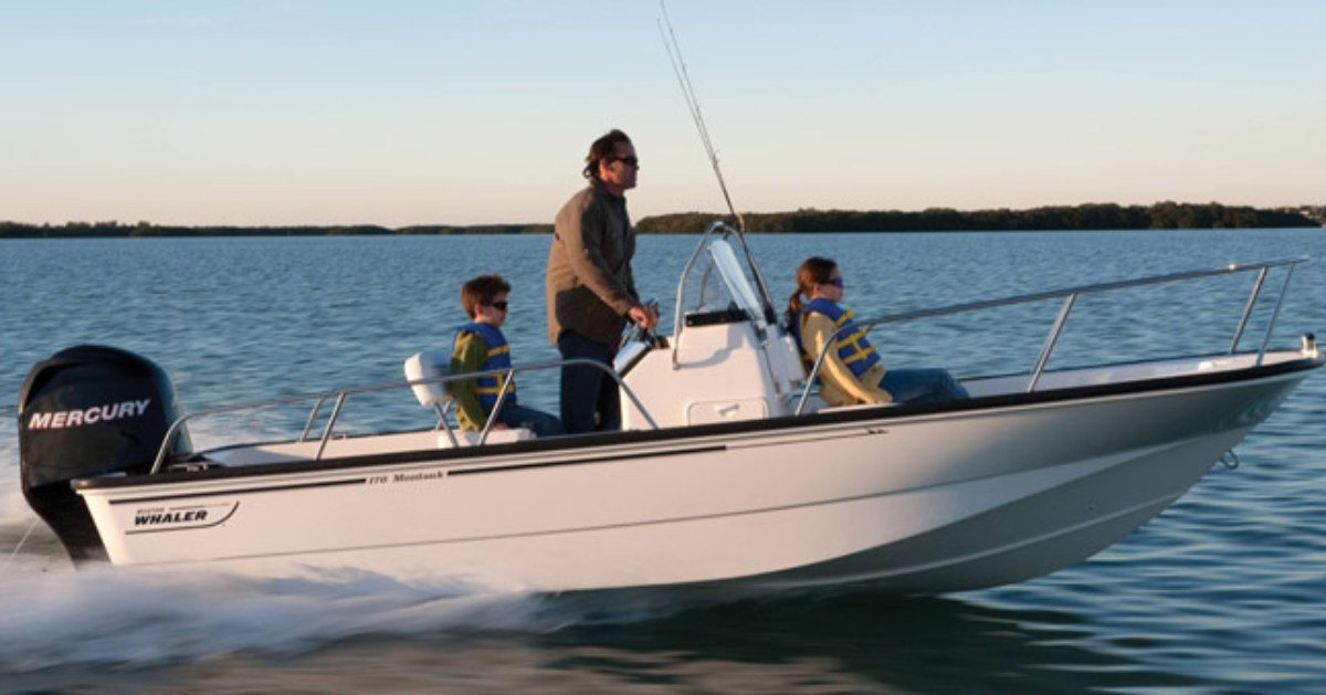 people in a motor boat