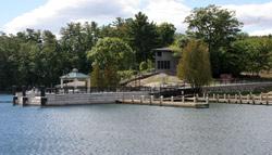 Bolton Landing public docking on Lake George NY