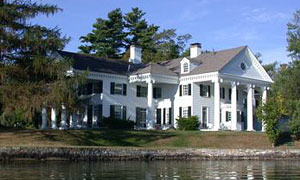 View of the Bolton Landing NY Hotel on Mohican Point on Lake George