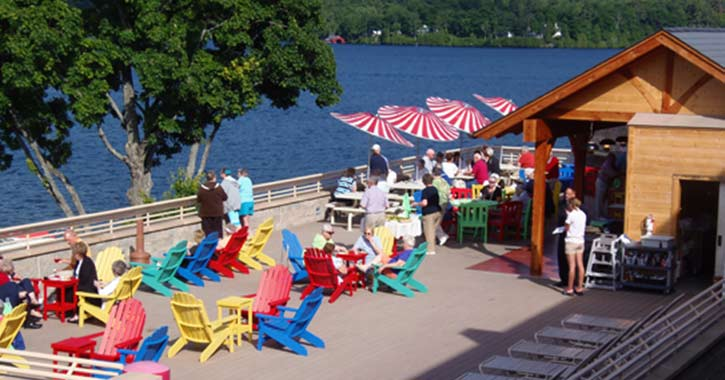 deck at surfside on the lake