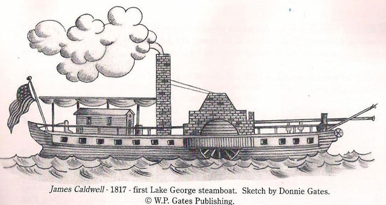 james caldwell steamboat sketch