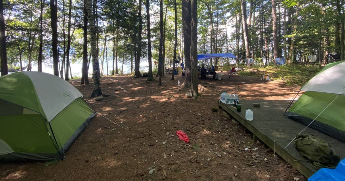 camping tents and equipment