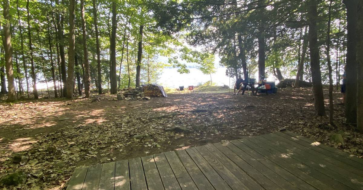 campsite near water