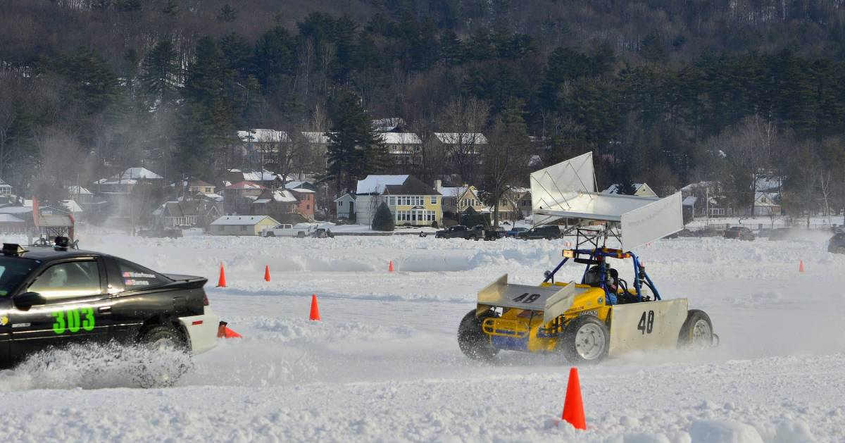 cars on the ice