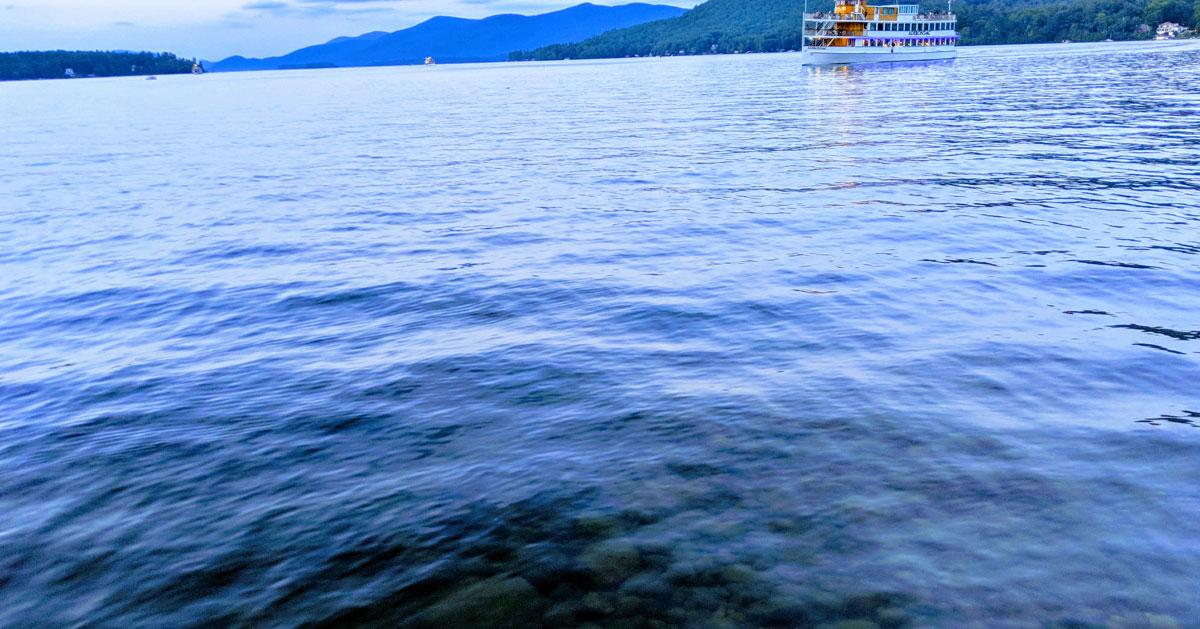 a clear lake