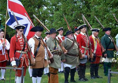 colonial troops