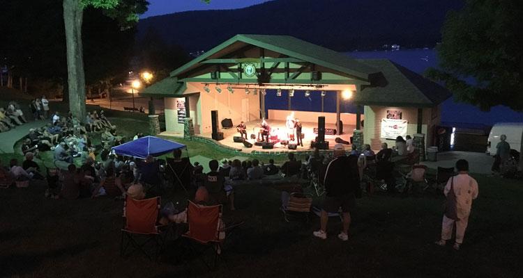 an evening concert at shepard park