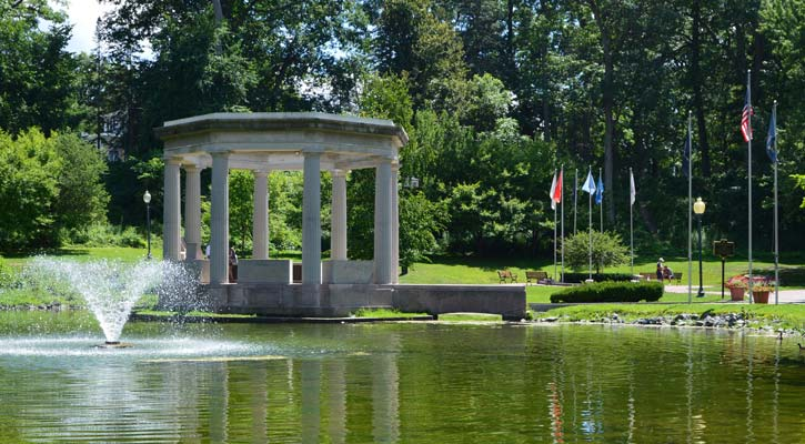 fountain in Congress Park