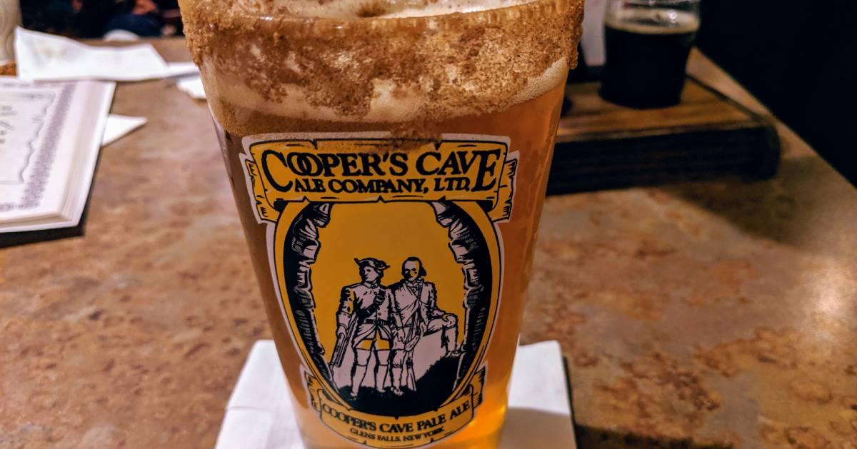 Cooper's Cave beer glass