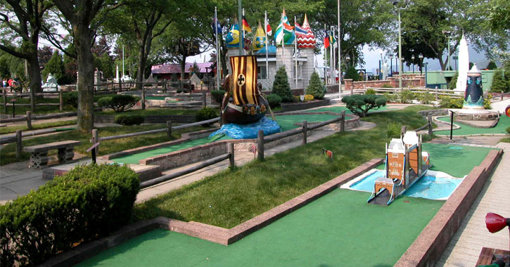 part of a mini golf course