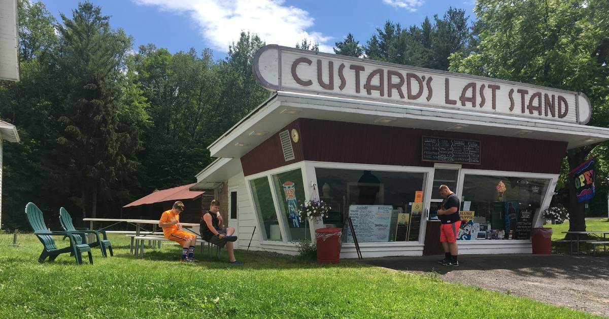 outside of Custard's Last Stand ice cream shop