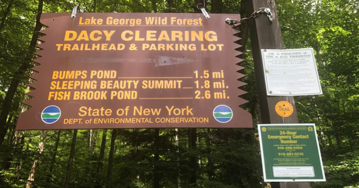 big sign for dacy clearing