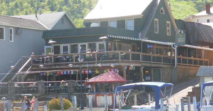 Exterior of Christies on the Lake in Lake George