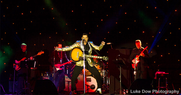 tribute artist performing at elvis festival