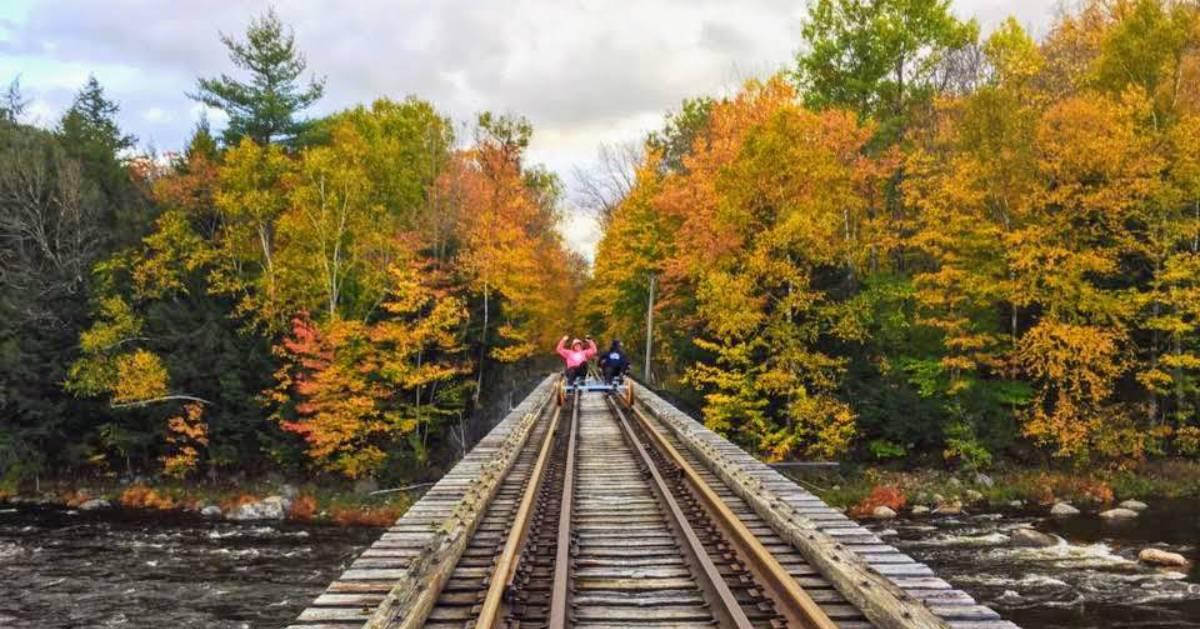 railroad track in the fall