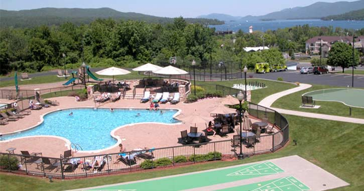 Pool area at Holiday Inn Resort in Lake George
