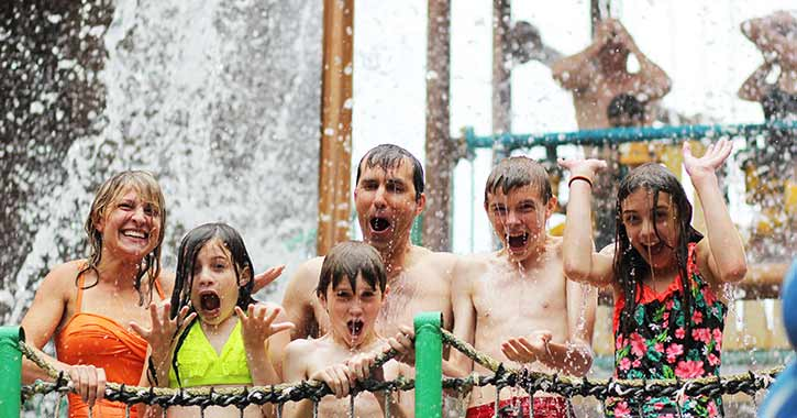 Family at Indoor Water Park