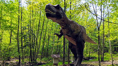 t rex statue