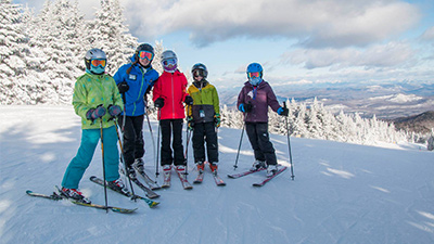 group of skiers at gore