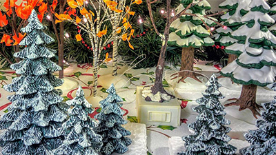 ceramic holiday display