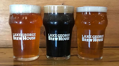 three pints at the lake george brew house