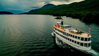 cruise ship on lake george