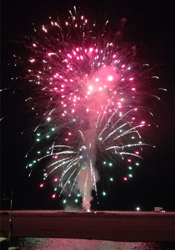 lake george winter carnival fireworks