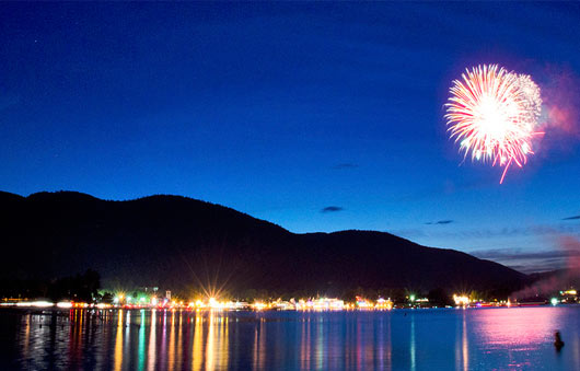 lake george fireworks