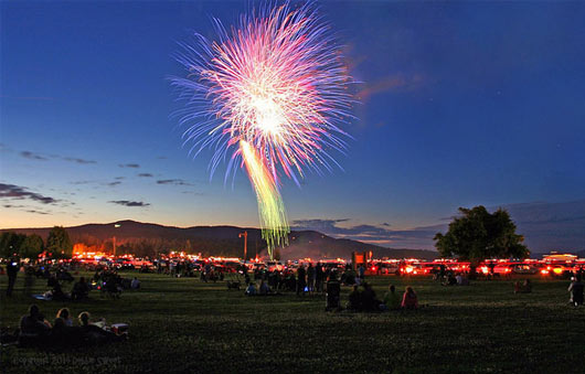 lake george summer fireworks
