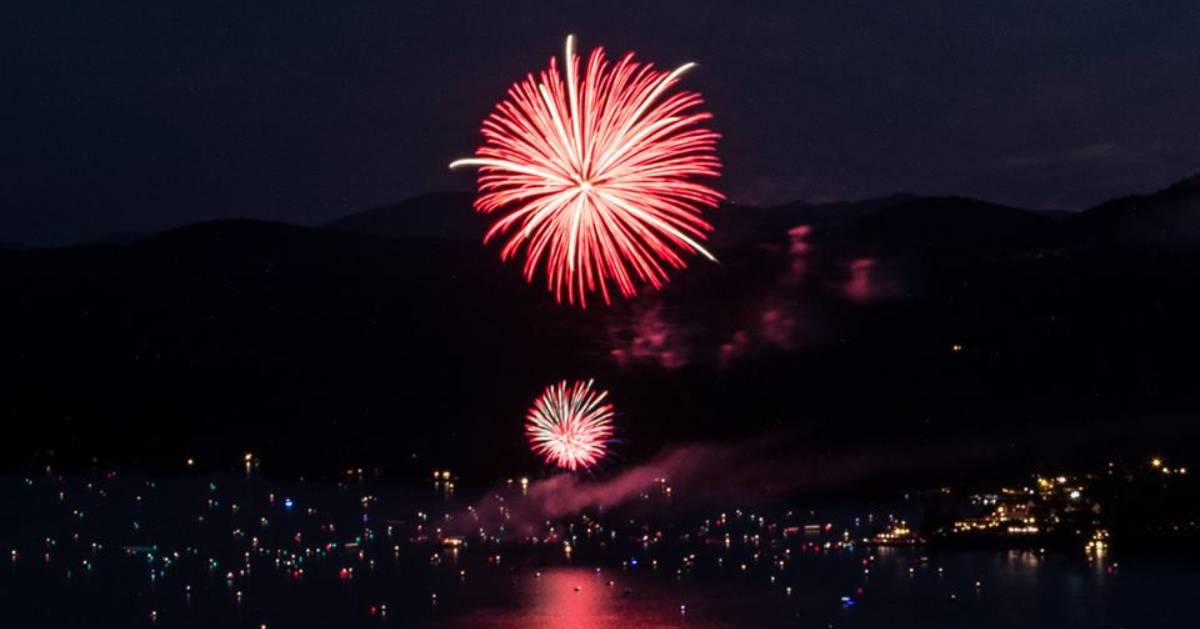 fireworks in Lake George