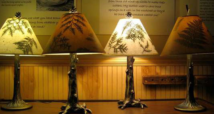 lamps at the folk school